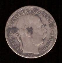 Монета Венгрия 1 крона 1894 год