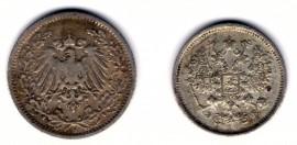 1/2 марки 1906 (A), 10 копеек 1906 СПБ ЭБ