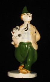 Статуэтка Клоун Карандаш с собакой Кляксой