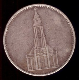 Монета 5 марок 1934 Кирха