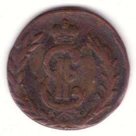Сибирская монета копейка 1777 КМ.